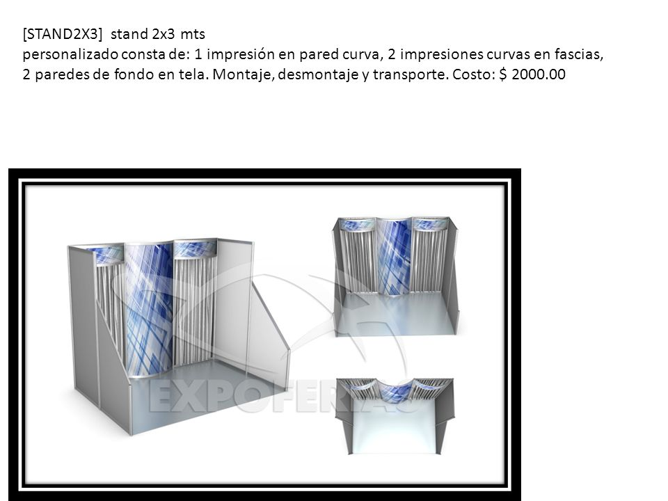 [STAND2X3] stand 2x3 mts